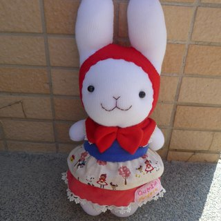 [Happy bleating • Handmade Shop] Little Red Riding Hood cute bunny doll