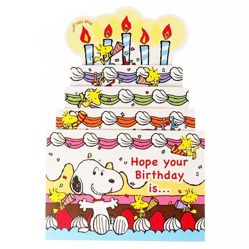 Snoopy Slide Big Cake Hallmark Peanuts Snoopy Stereo Cardmusic