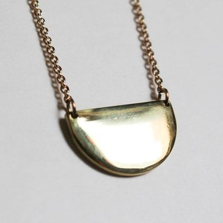Find another semi-circular brass long necklace