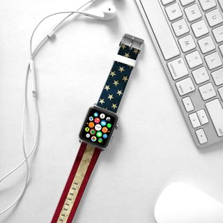 Apple Watch Series 1 , Series 2, Series 3 - Vintage USA Flag Watch Strap Band for Apple Watch / Apple Watch Sport - 38 mm / 42 mm avilable