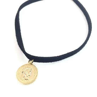 """Golden medallion necklace"""