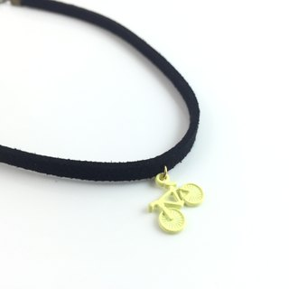 """Yellow Bike Necklace"""