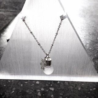 Fill in the blank  (Small) Storm glass necklace (No.8 Spherical shape bottle)
