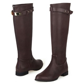 SPUR Belted Riding Boots  19077 BROWN