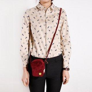 ntmy. corduroy small satchel
