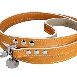 H & amp; S Hennessy & Sons - Saffiano [Hermes brown] Oxford leather leash