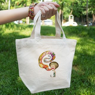 Small Canvas Tote │ chatterbox Miss │Chien