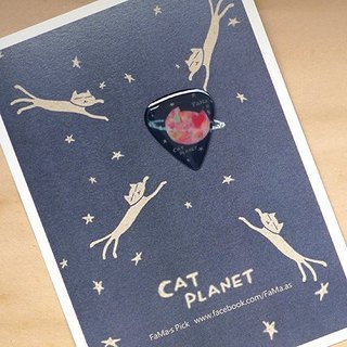 FaMa's Pick Guitar Sling Cat Planet Long Such Postcard Set