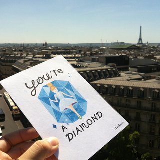 chienchien - YOU'RE A DIAMOND! Illustration Postcard / Card