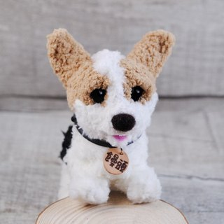 Pets avatar 13 ~ 15cm [feiwa Fei handmade doll] Corgi pet doll (Welcome to order your dog)