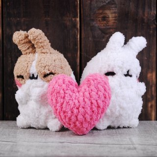 (One pair price) 13 ~ 15cm [feiwa Fei cloned pet baby rabbits hand-made] love pillow pet lovers group + Doll (welcome to build your rabbit) Valentine's Day