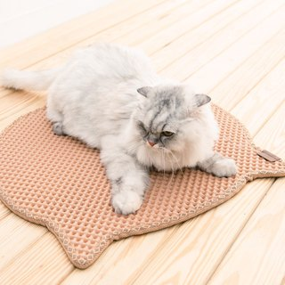 Blackhole Cat Litter Mat- Headshape (Begie)