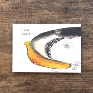 Postcard Banana Shark