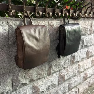 Leather back small bag (coffee)
