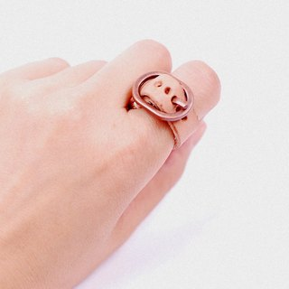 Love. Never fails - Leather Ring