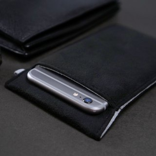 Ob2【BLACK X LIGHT GREY】 Cleaning-Fiber cell phone pouch