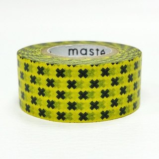 Maste and paper tape Basic Overseas Limited [Cross-Yellow + Black (MST-MKT143-YE)]