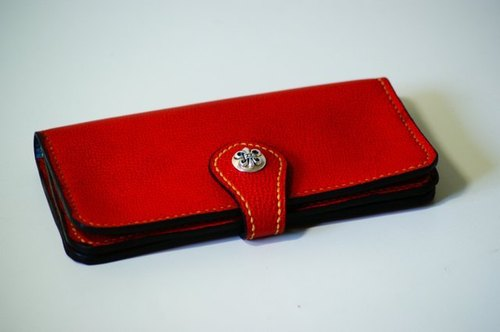 Fold Wallet long silver buckle clip