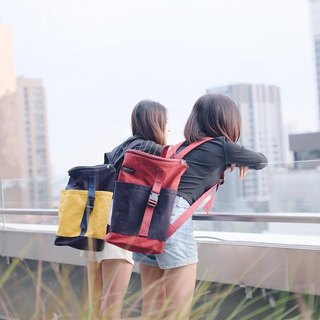 Backpack (Dark Red & Navy).