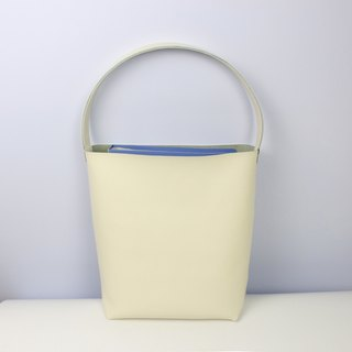 Zemoneni Milky White leather lady shoulder bag and Hand bag with wide handle style