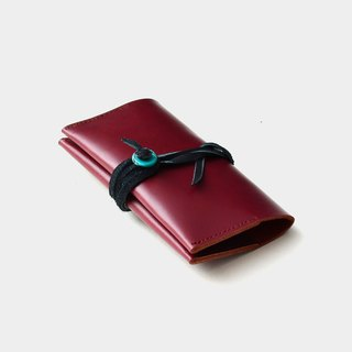 [Certificate of Turks] leather business card holder leather card clip leisure card card wine red leather graduation gift guest carved letter when the gift national wind turquoise stone