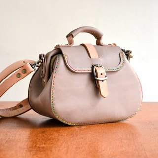 Fading Mist Leather Mini Round Bottom Doctor Frame Bag