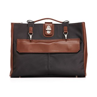 Amore Stark Light Business Briefcase - Henghei + Coffee