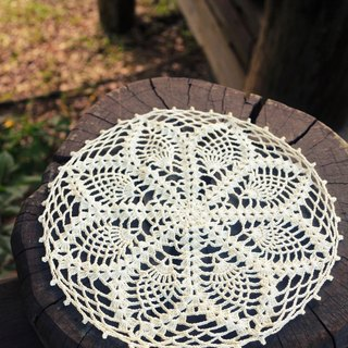 Hand made - Lace cotton pad - white