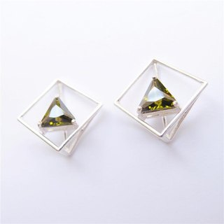 Building structure 925 silver earrings