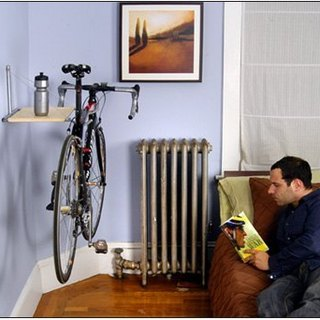 Single Bike wall-mounted frame