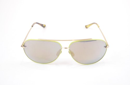 * try at home, free appointment in * DELIGHT Titanium Sunglasses - Green Aviator Sunglasses