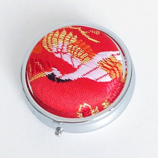 "Pillbox with Japanese Traditional pattern, Kimono ""Brocade"""