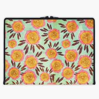 Axis - Custom 3-Sided Zipper Laptop Sleeve - Vintage Roses