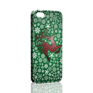Loving winter snow deer green pattern custom Samsung S5 S6 S7 note4 note5 iPhone 5 5s 6 6s 6 plus 7 7 plus ASUS HTC m9 Sony LG g4 g5 v10 phone shell mobile phone sets phone shell phonecase