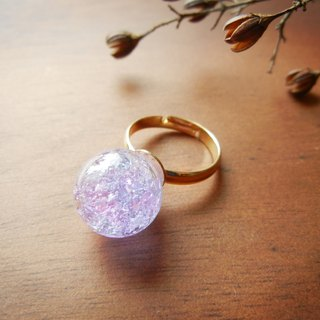 *coucoubird*purple blue ice glass ball ring