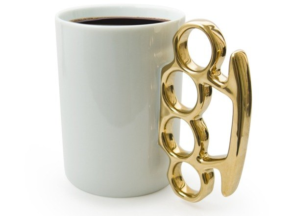 Finger tiger mug - white / gold