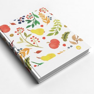☆ ° Rococo Strawberries WELKIN Handwork Handbook / Notebook / Handbook / Diary - Autumn Leaves