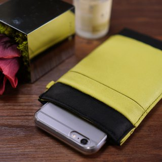 OM【BLACK X MUSTARD YELLOW】ONOR CLEANING-FIBER CELL PHONE POUCH