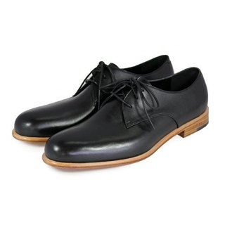 Larch M1125 Black  leather Derby shoes