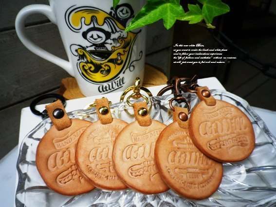 "atwill ~ ""COOKIE ★ 'classic cookies cow leather key ring! Special section!"
