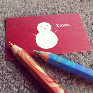 KerKerland-White Snowman - Small Card (Business Card Size)