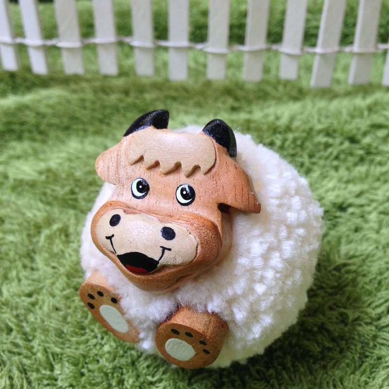 POM POM COW key chain/ magnet