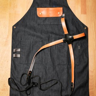 【icleaXbag】handmade working apron(cross-back strap)DG01N