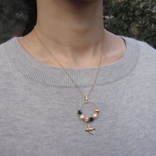 Swallow necklace (Navy)