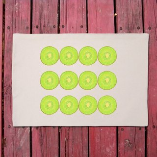 Kiwi Fruit series interesting cultural and creative style picnic placemat