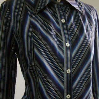 Striped long-sleeved shirt - Blue Stripe