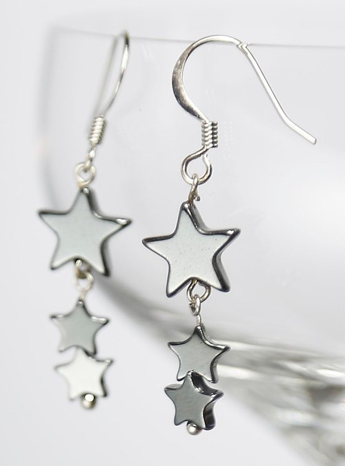 * Fashion generous gift of choice * sweet * Sharing - E0271 - Natural Gemstone Earrings - Star Legendary Love stone