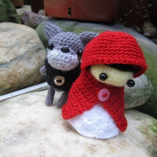 Little Red Riding Hood and the Big Bad Wolf. Wedding Doll (customized part of your wedding dolls)