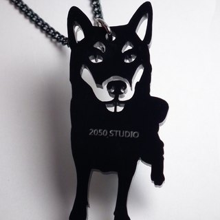Lectra to rich duck ▲ ▲ dog necklace / keychain