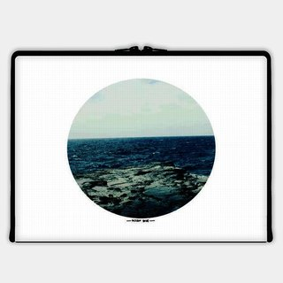 Axis - Custom 3-Sided Zipper Laptop Sleeve - Ocean Blue